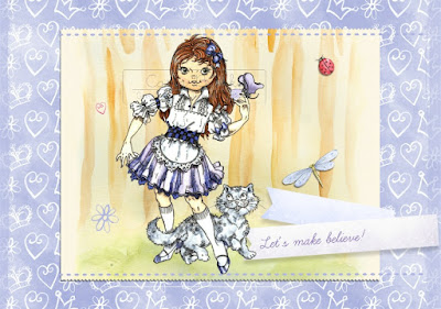 Isabella as Alice With the Cheshire Cat