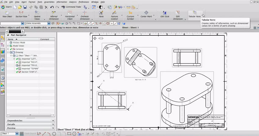 How Drafting Program Unigraphics Nx 75 Drawing And Graphics