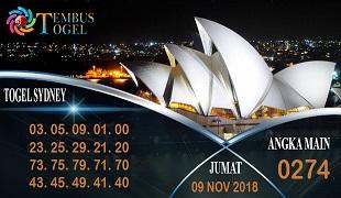 Prediksi Angka Togel Sidney Jumat 09 November 2018