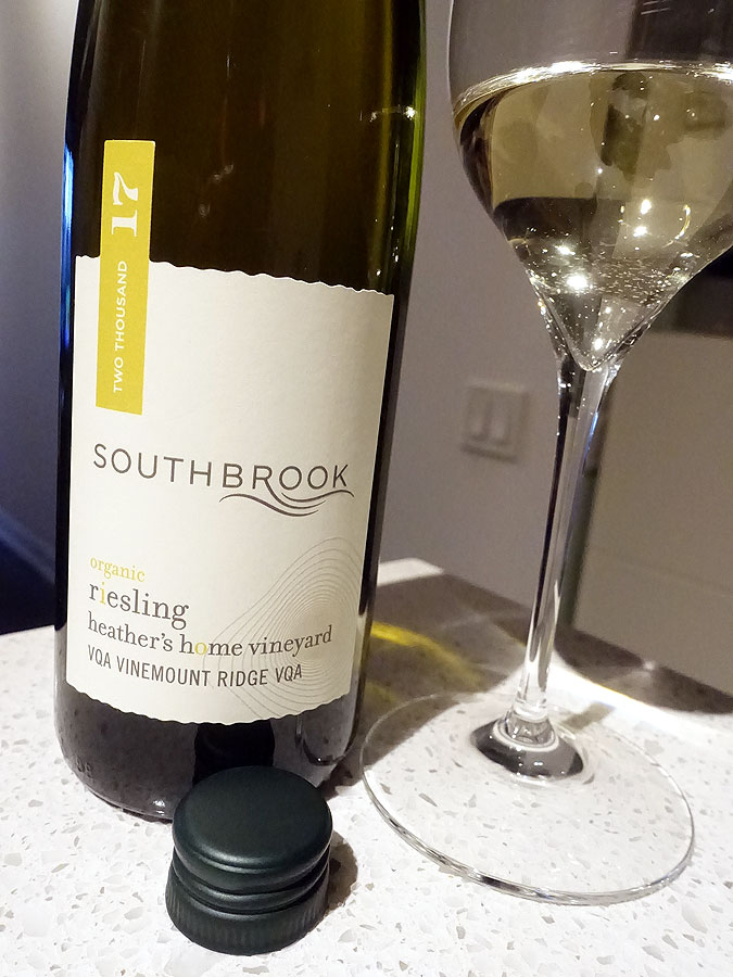 Southbrook Heather's Home Vineyard Organic Riesling 2017 (91 pts)