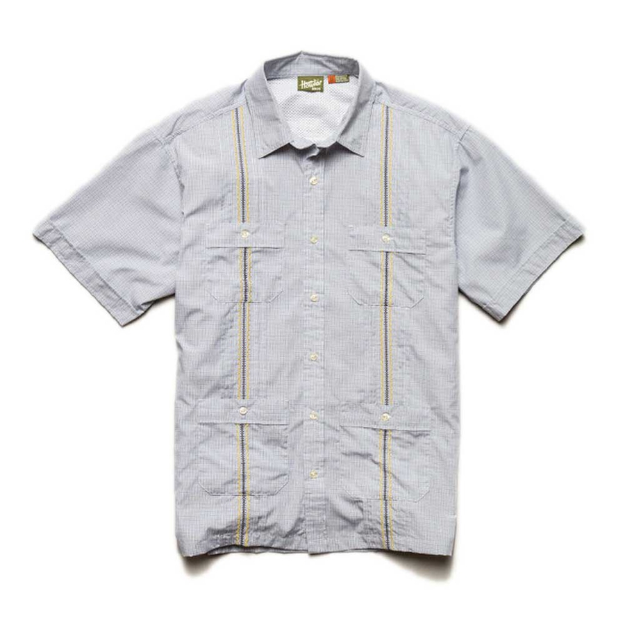 Country pleasures fly fishing howler guayabera shirts on sale for Fishing shirts on sale