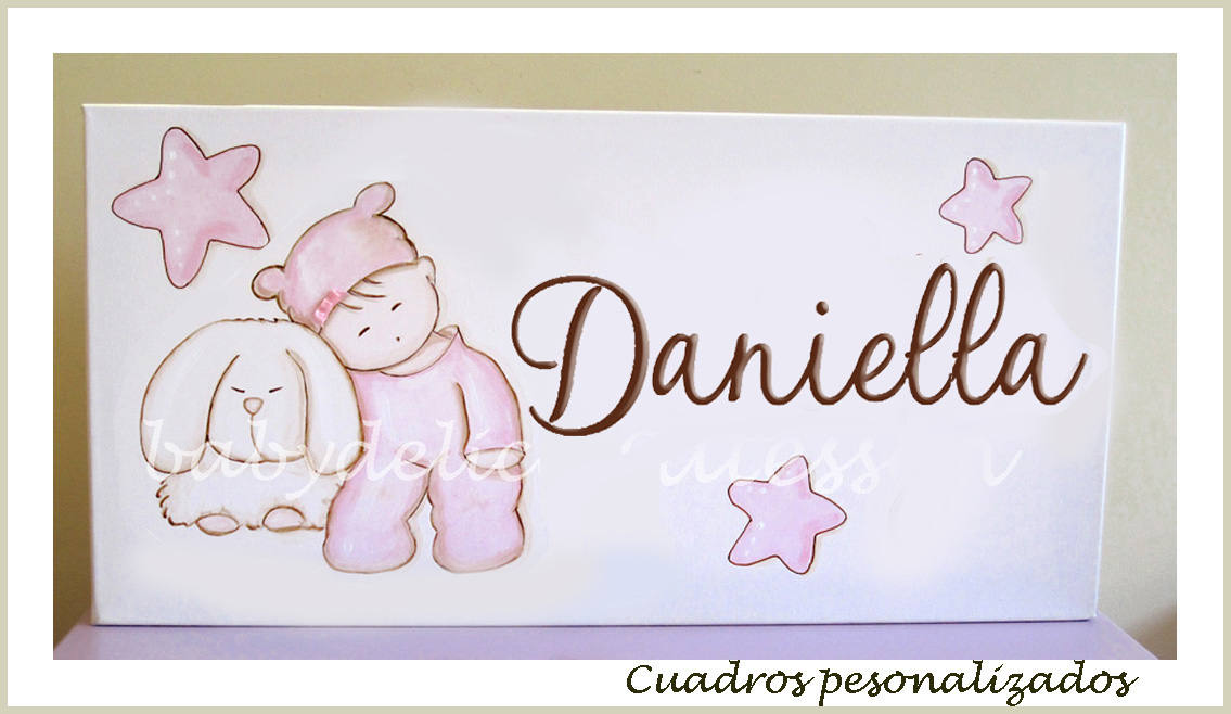 Baby delicatessen letras de madera cuadro personalizado - Cuadros fotos personalizados ...