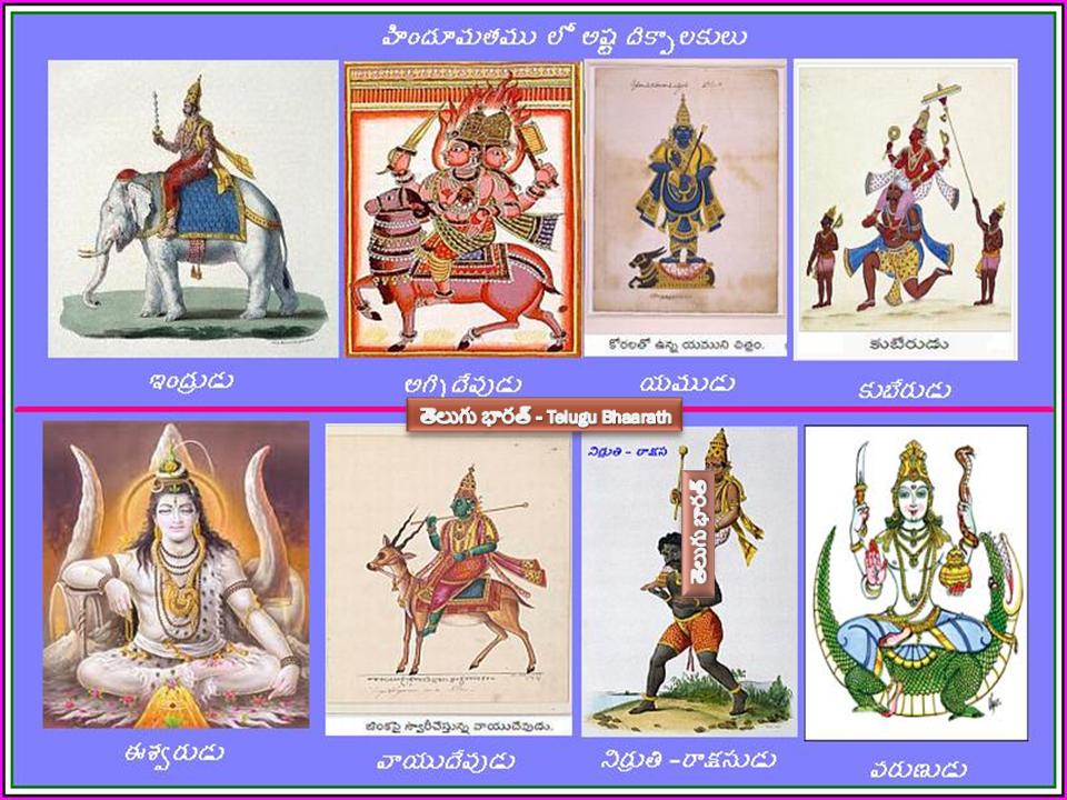 అష్టదిక్పాలకులు మరియు వారి సతీమణులు - Astadikpalakulu and their wives