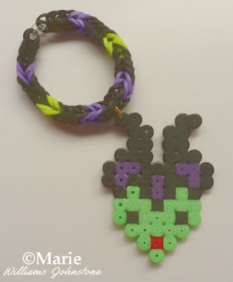 Perler hama beads and rainbow loom bands make great jewelry crafts