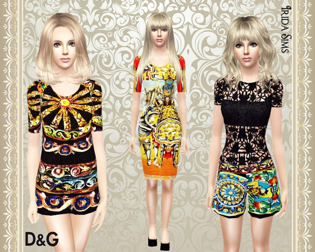 My Sims 3 Blog D&G Collection by Irida Sims
