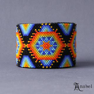 купить жесткие браслеты из бисера ручной работы интернет магазин этнической бижутерии.