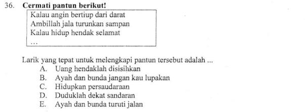 Melengkapi Larik Pantun Zuhri Indonesia