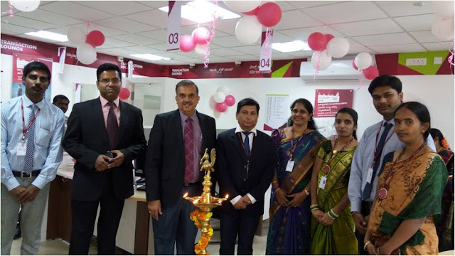 Mr. Dayanada Reddy - Managing Director, Bharath Goldstar Group in the presence of Mr. B Sadashiva Mallya, Circle Head - Bangalore, Axis Bank and Mr Prashanth, Cluster