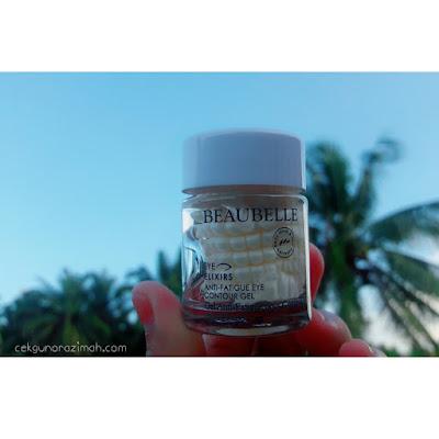 Beaubelle Skin Care Review, Anti Fatigue Eye Contour Gel, hilangkan eyebag, produk hilangkan hitam bawah mata, cara hilangkan bengkak bawah mata, pengalaman hilangkan eyebag
