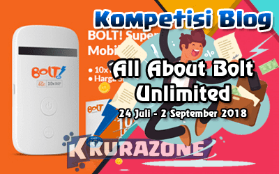 Kompetisi Blog - Internet Unlimited BOLT Berhadiah Smartphone Gaming, Smartband, Modem, hingga Keyboard Gaming