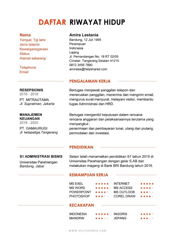 Daftar Riwayat Hidup 06
