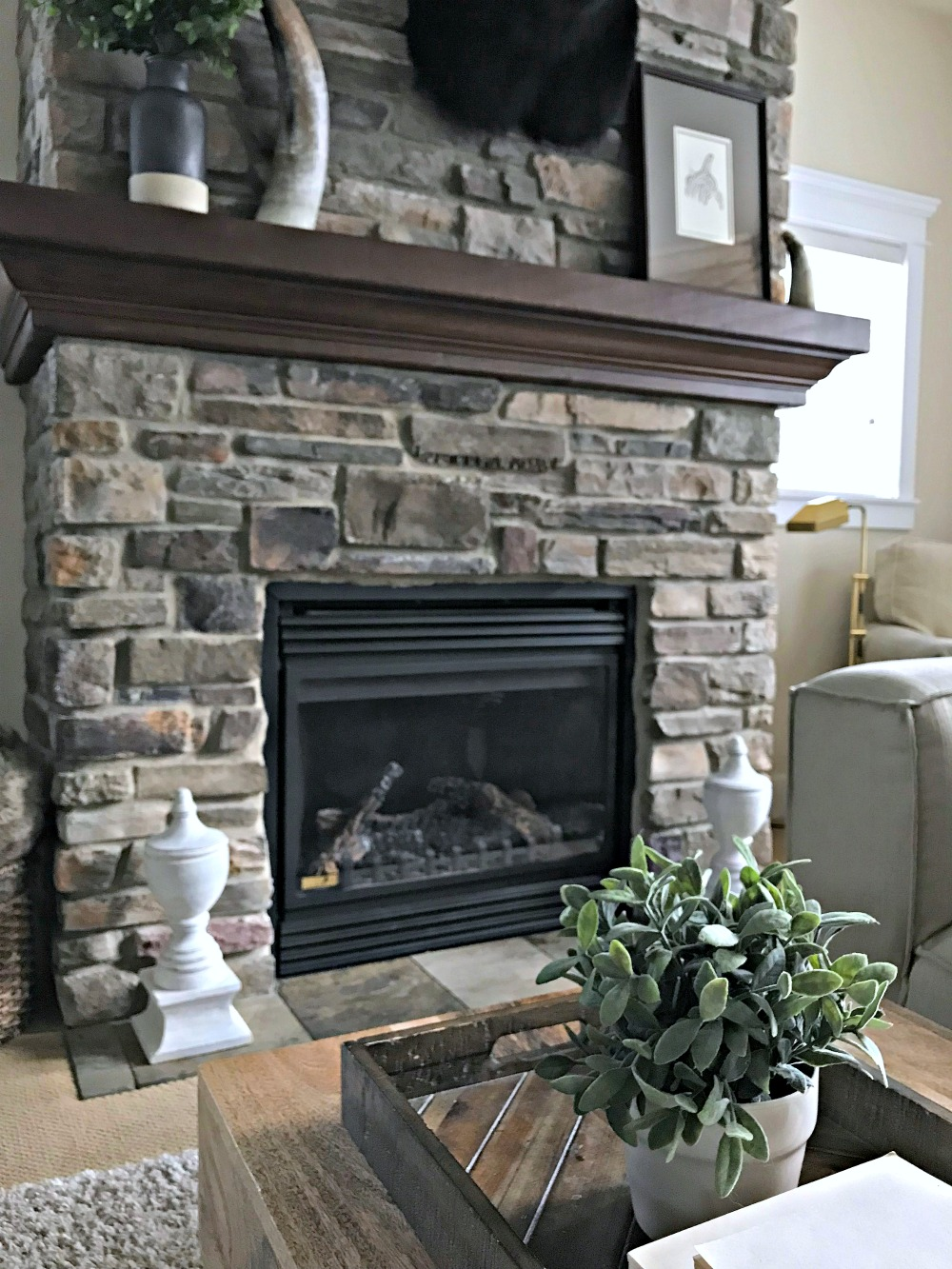 wood home decor surround fireplace