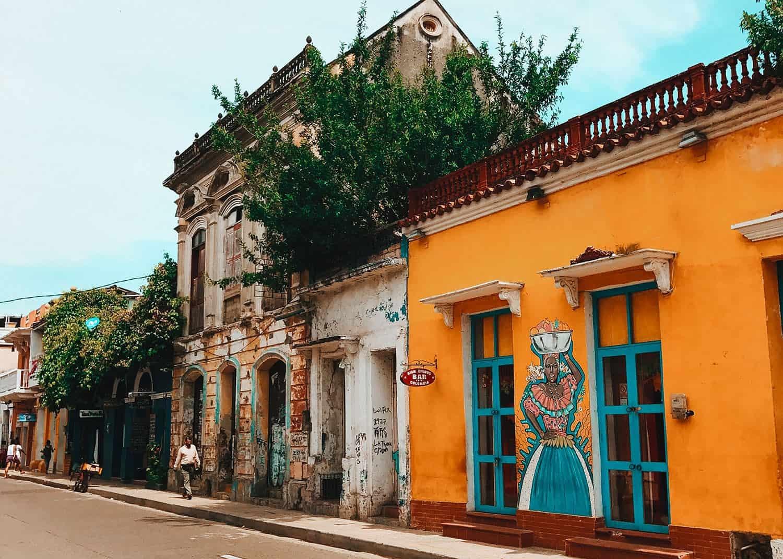 Rua em Getsamaní - Cartagena