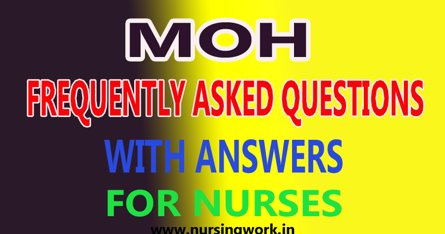 NURSING WRITTEN TEST SAMPLE QUESTIONS: MOH FREQUENTLY ...
