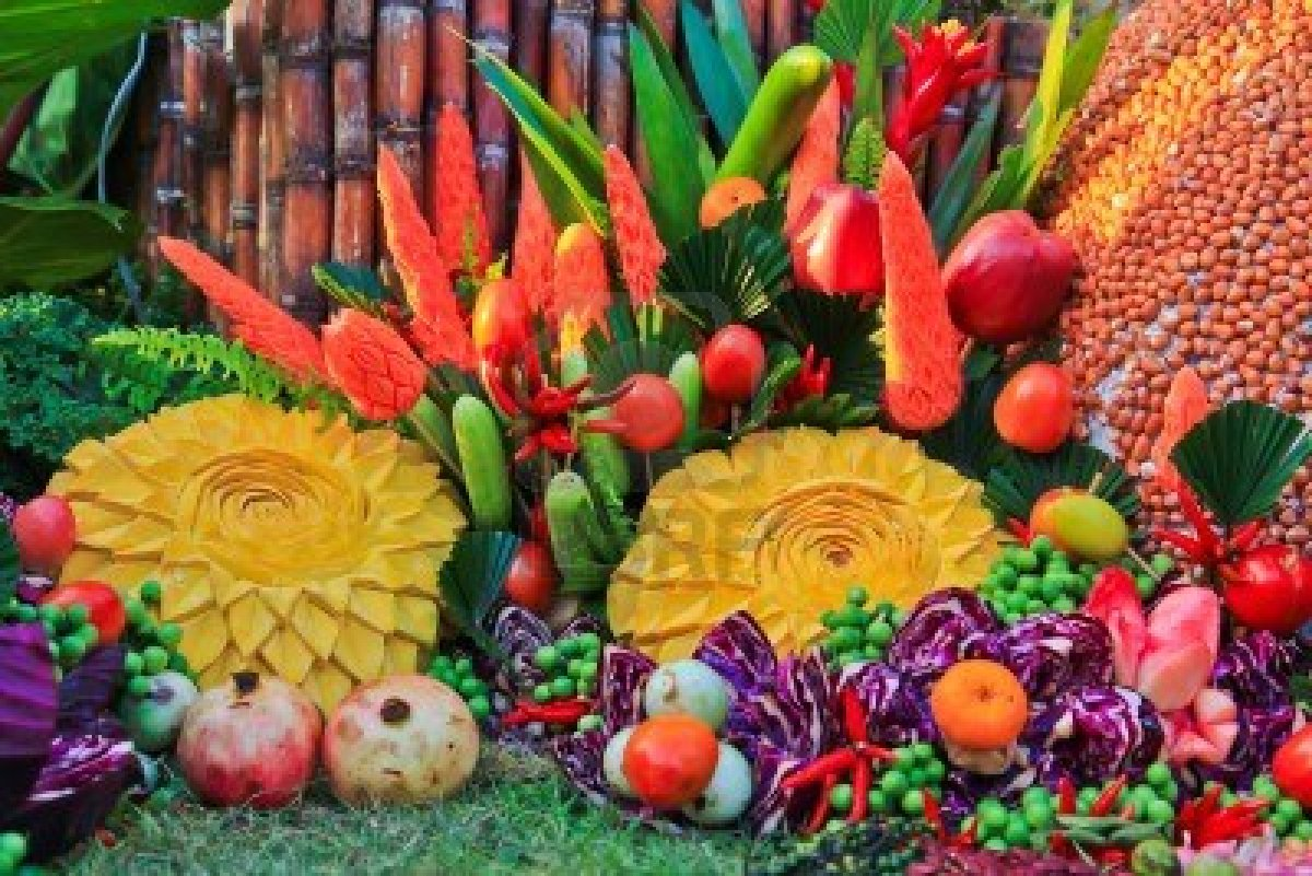 Vegetable fruits carving