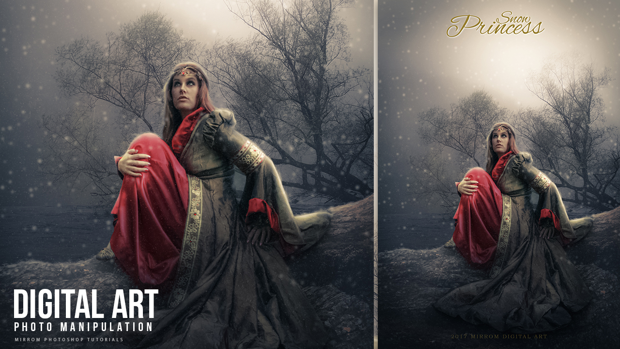 Make a Photo Manipulation With Snow Effect In Photoshop