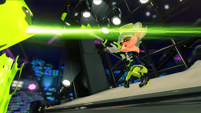 Splatoon 2 Hero Mode Octo Canyon Marie Splat Charger low-tide ink cutscene