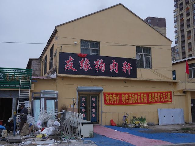 dog meat restaurant behind the Mudanjiang Wanda Plaza