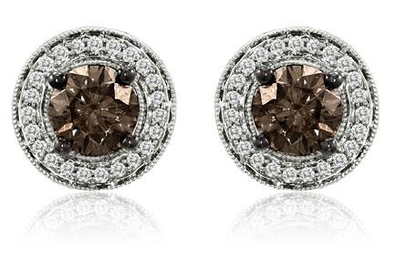 Brown Diamond Loop Earrings Barney S Le Vian Chocolate