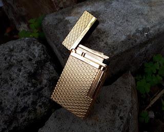 Korek Api Mewah S.T. Memorial Dupont Seri TT6 Bright Sound Metal Gold Luxury Lighter