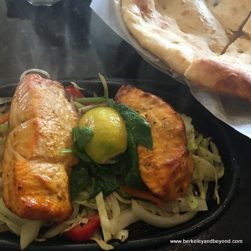 tandoor salmon at Taste of the Himalayas in Berkeley, California