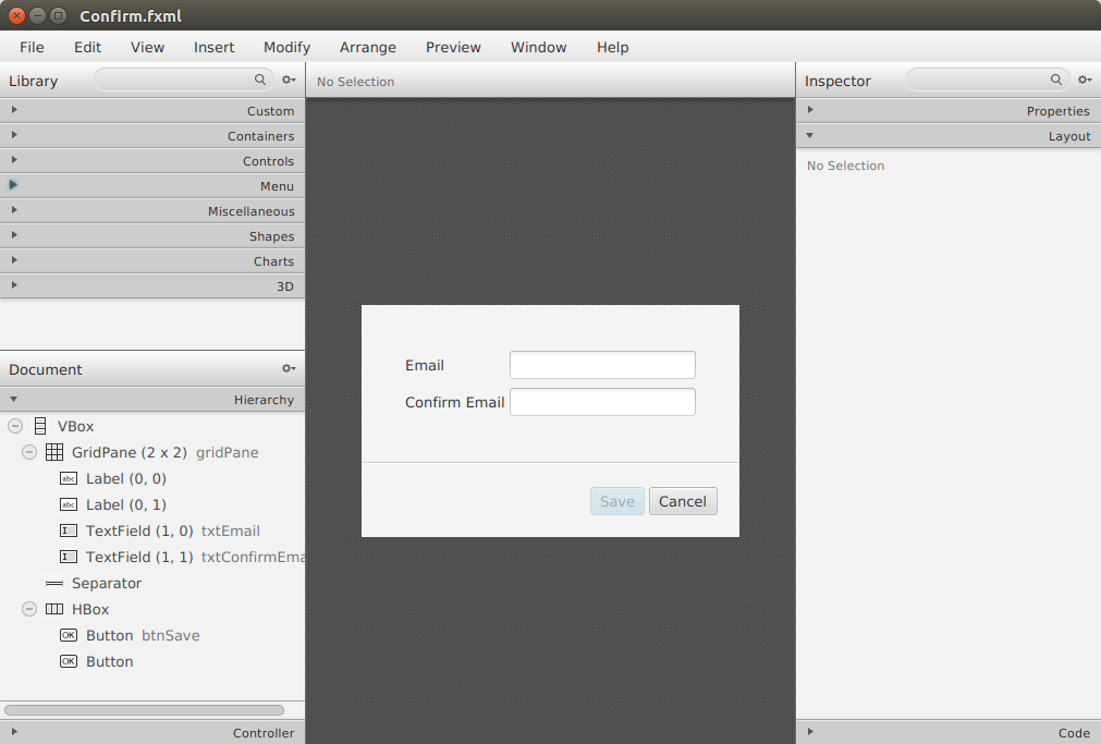 Bekwam Blog: Disabling a Save Button with JavaFX