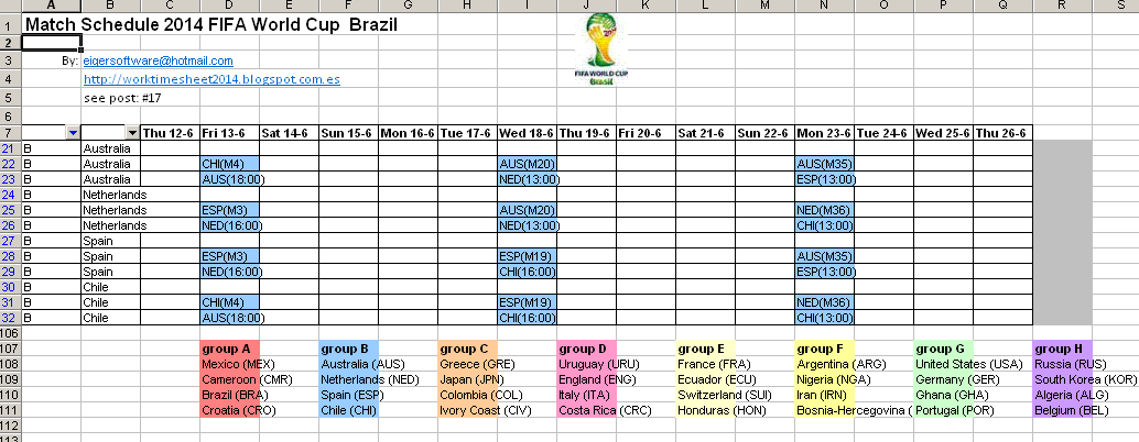 7 team schedule template - excel examples for your work sports and more excel with