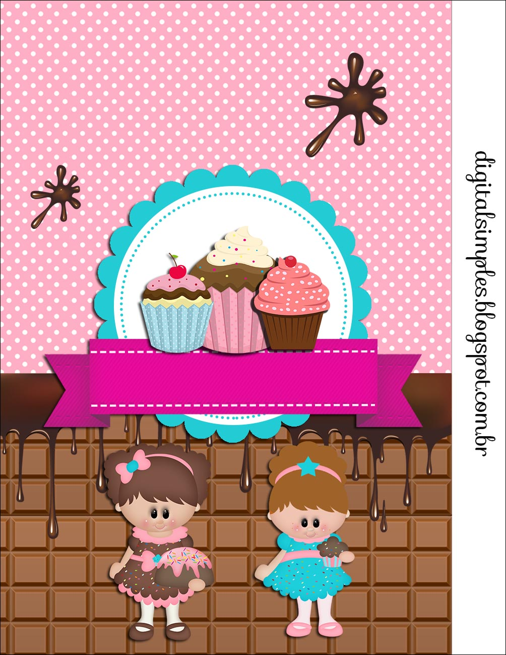 girls cooking cupcakes free printable candy bar labels
