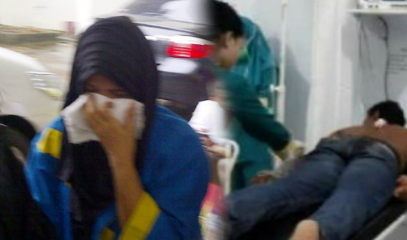 Seorang isteri telah menikam punggung suaminya sendiri akibat daripada tertekan