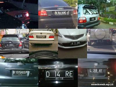 50 Plat Nomor Kendaraan Unik Dan Lucu