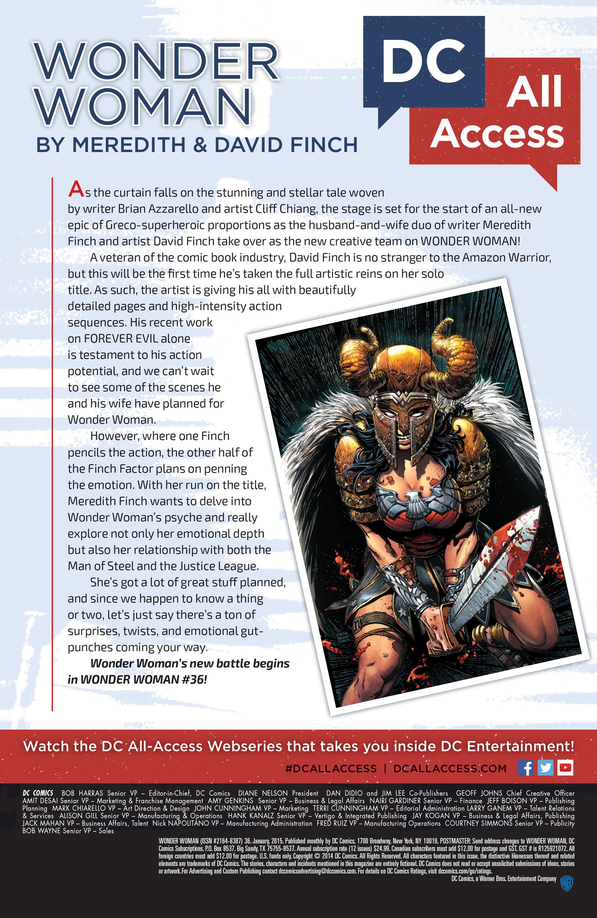 Read online Wonder Woman (2011) comic -  Issue #36 - 21
