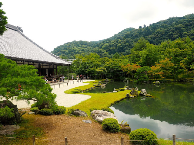 Gardens at Tenryju-ji Temple, Arashiyama, Kyoto, Japan