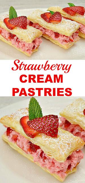 Strawberry Pastries - Valentines dessert - Dessert - Easy Dessert - Easy Pastries