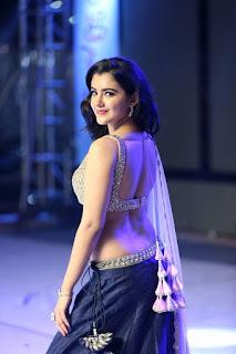 Indian Girl Malavika Sharma In Blue Lehenga Choli (2)