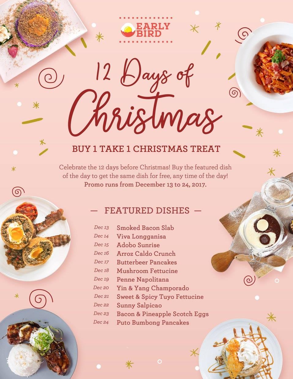 Early Bird Breakfast 12 Days Of Christmas 2017 Eater Ph