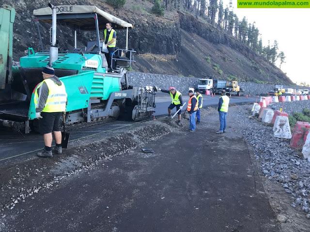 Obras Públicas y Transportes comienza el próximo lunes el asfaltado de un nuevo tramo de Los Canarios-El Charco