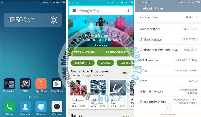 Tutorial Cara Update MIUI 8 ROM For Xiaomi Redmi 2 Terbaru