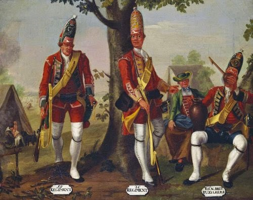 19th and 20th Regiments of Foot, and 21st Royal North British Fusiliers, Grenadiers, 1751