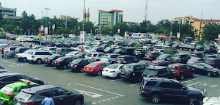 Cars parked in Shoprite