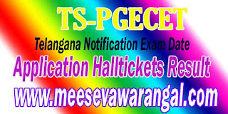 Telangana TS PGECET 2016 Notification Fee Payment Halltickets Rankcard Results Counselling
