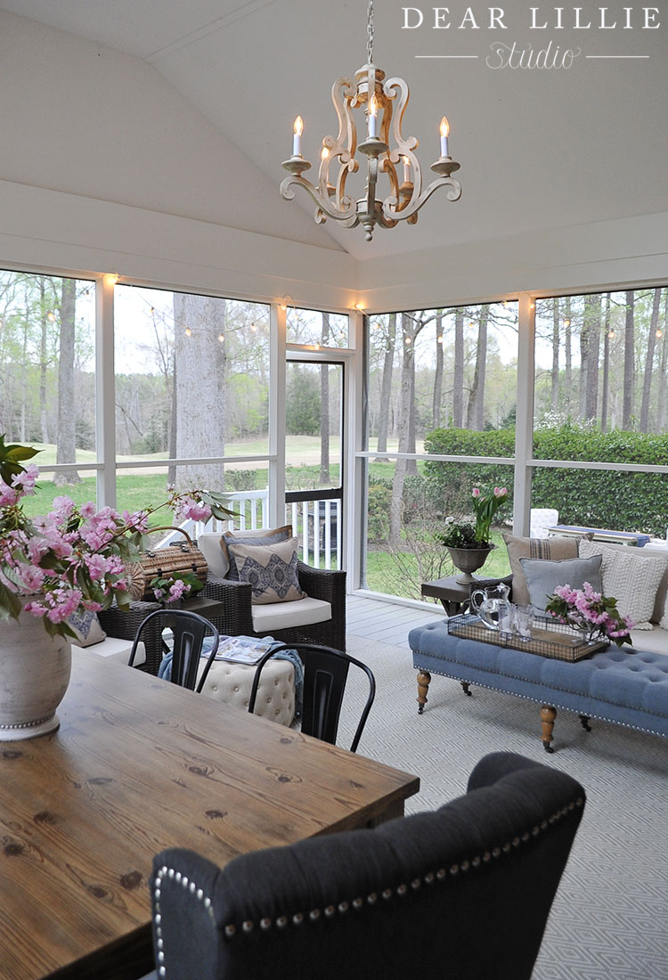 our new porch dear lillie bloglovin. Black Bedroom Furniture Sets. Home Design Ideas