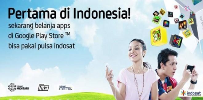Description: Beli Aplikasi Android di Play Store Bisa Pakai Pulsa Indosat
