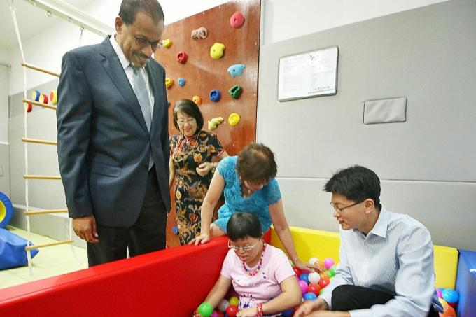 The Movement for the Intellectually Disabled of Singapore (Minds) opened its first sensory gym for adults yesterday, located at Mindsville@Napiri.
