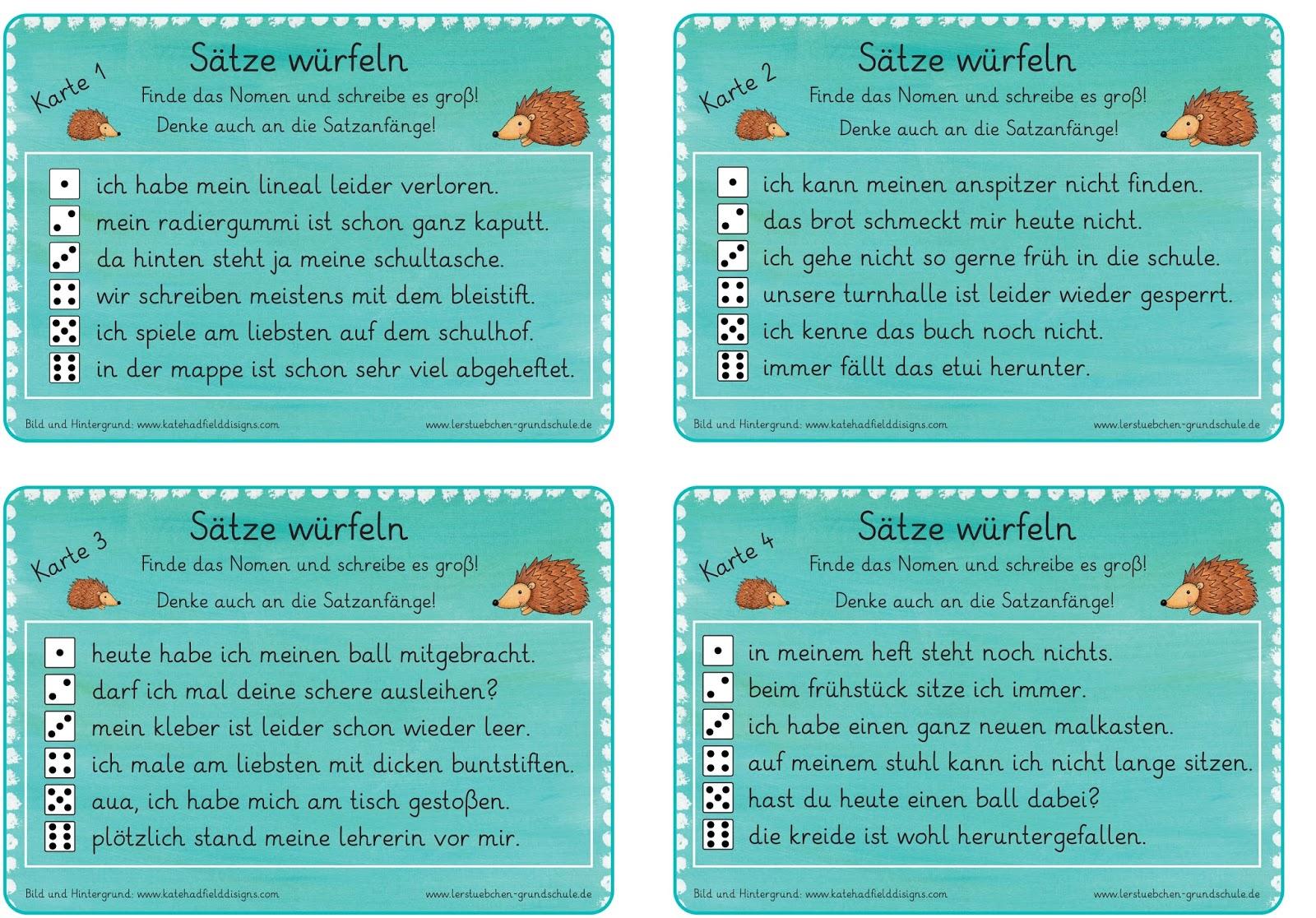 Lernstübchen: Nomen und Satzanfänge groß schreiben