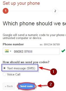 Send Code Pe click kar de