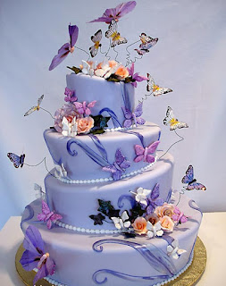 Pastel Quince Años,  Mariposas
