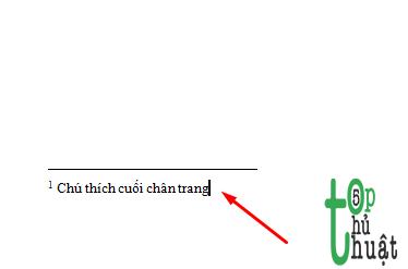 Hướng dẫn chèn ghi chú ở chân trang trong word.