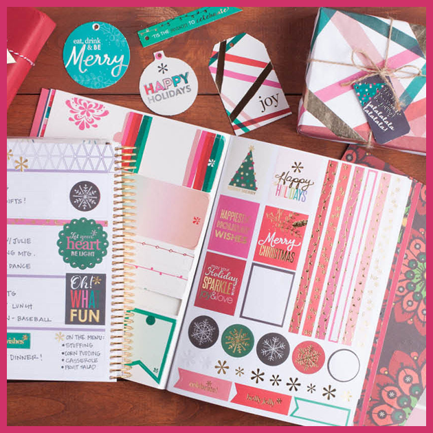 This fabulous gift wrap book has everything you need for your holiday gift-wrapping! I love the colors - so bright and cheerful!