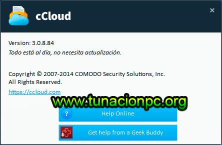 Comodo CCloud, Espacio Gratuito en la Nube