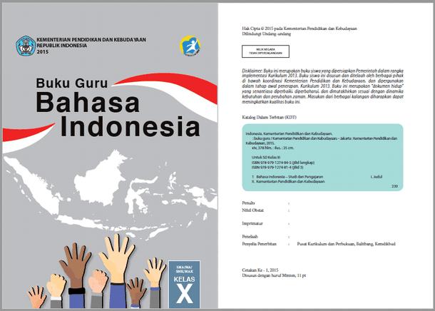 Buku Bahasa Indonesia Guru dan Siswa Kelas 10 SMA MA SMK MAK Edisi Revisi 2016
